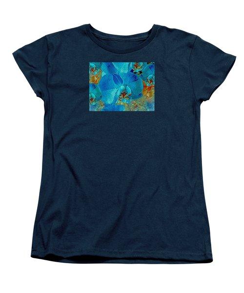 Orchid Reverie 10 Women's T-Shirt (Standard Cut) by Lynda Lehmann