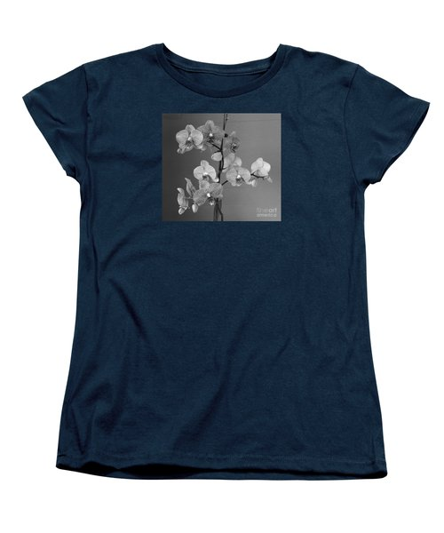 Women's T-Shirt (Standard Cut) featuring the photograph Orchids Black And White by Jeanette French