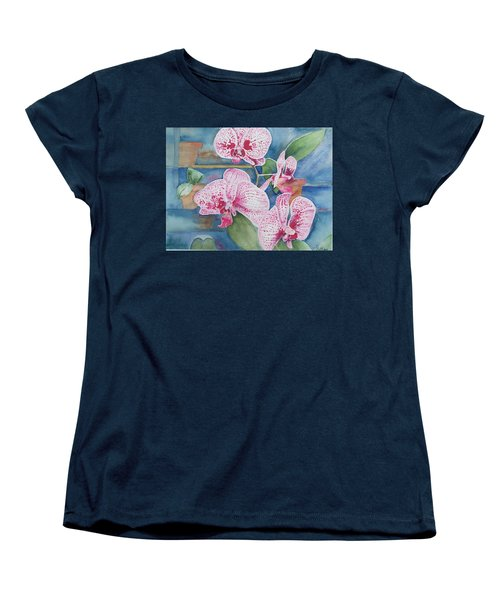 Orchids Women's T-Shirt (Standard Cut) by Christine Lathrop