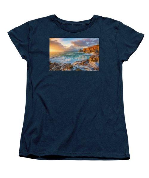 Women's T-Shirt (Standard Cut) featuring the photograph Oregon Coast Wonder by Darren White