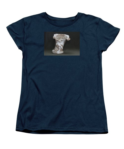 Organic Marbled Clay Ceramic Vase Women's T-Shirt (Standard Cut) by Suzanne Gaff