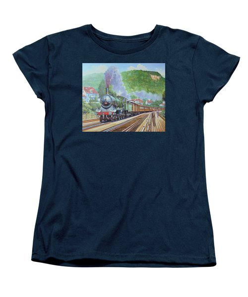 Women's T-Shirt (Standard Cut) featuring the painting Orient Express 1920 by Mike Jeffries