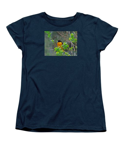 Oriole On The Lilac Women's T-Shirt (Standard Cut) by Larry Capra