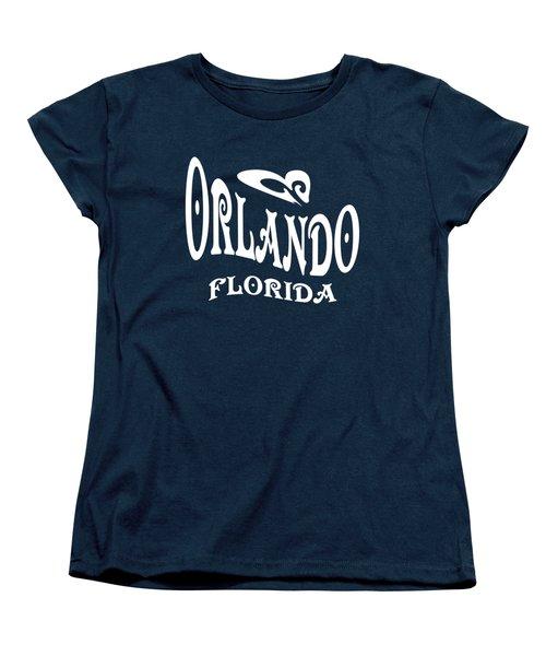 Orlando Florida Tshirt Design Women's T-Shirt (Standard Cut) by Art America Gallery Peter Potter