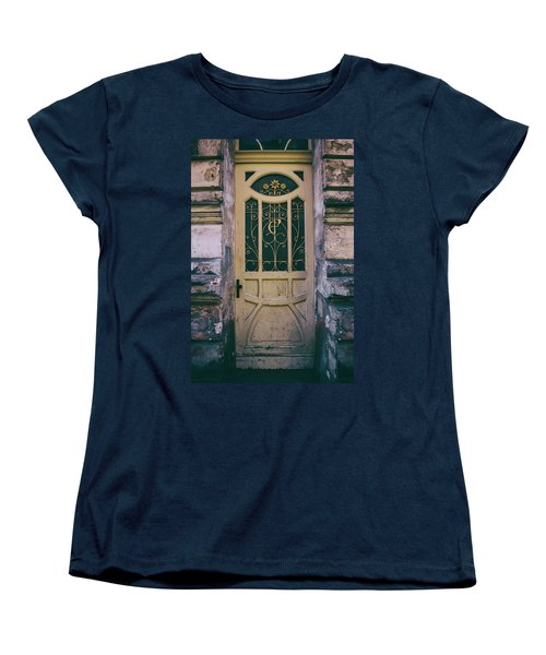 Ornamented Doors In Light Brown Color Women's T-Shirt (Standard Cut) by Jaroslaw Blaminsky