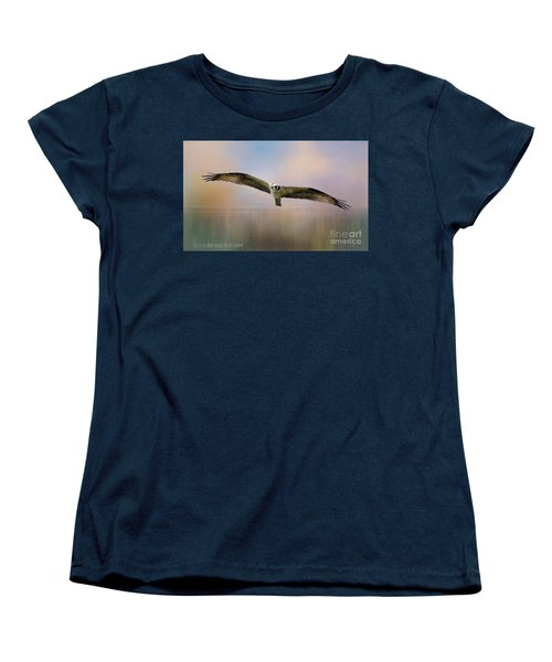 Osprey Over The Shenandoah Women's T-Shirt (Standard Cut) by Kathy Russell