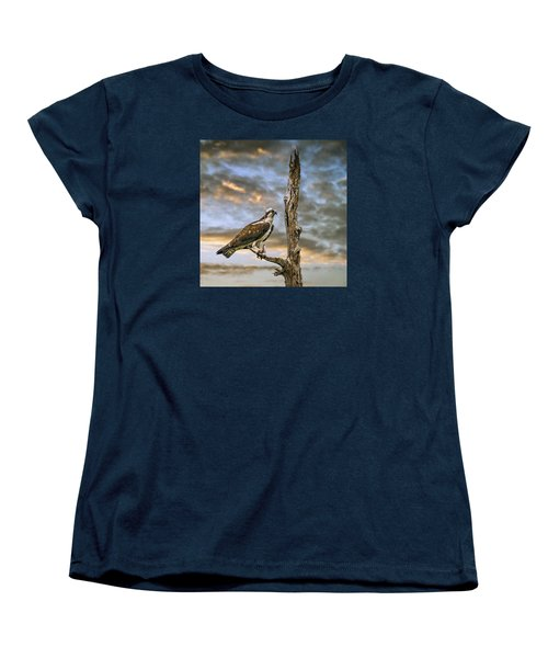 Women's T-Shirt (Standard Cut) featuring the photograph Osprey With Supper by Brian Tarr