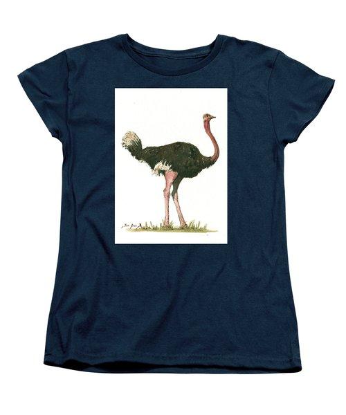 Ostrich Bird Women's T-Shirt (Standard Cut) by Juan Bosco