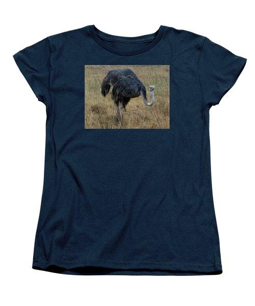 Ostrich In The Grass 1 Women's T-Shirt (Standard Fit)