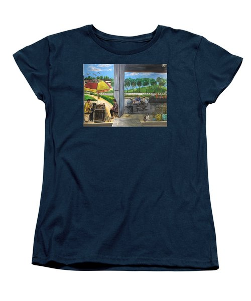 Our Home, Our Community Women's T-Shirt (Standard Cut) by Belinda Low