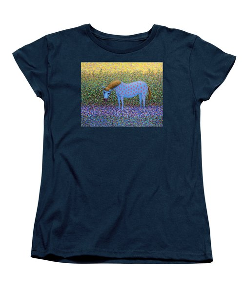 Women's T-Shirt (Standard Cut) featuring the painting Out Of The Pasture by James W Johnson