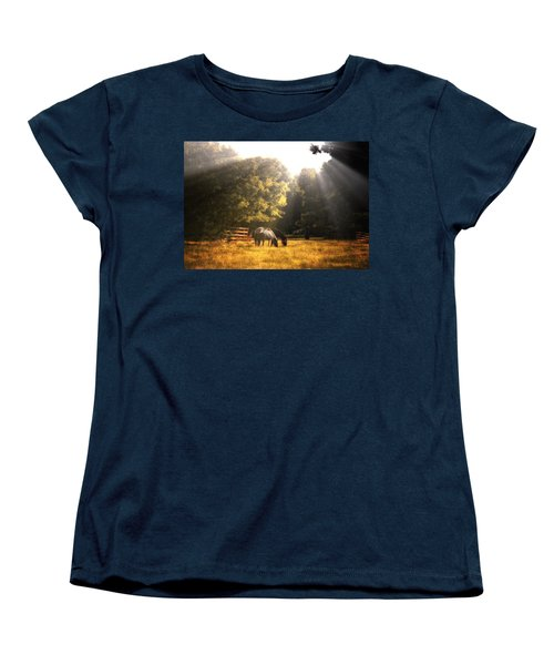 Women's T-Shirt (Standard Cut) featuring the photograph Out To Pasture by Mark Fuller