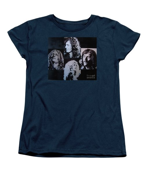 Women's T-Shirt (Standard Cut) featuring the painting Outtakes Of The Outtakes by Stuart Engel