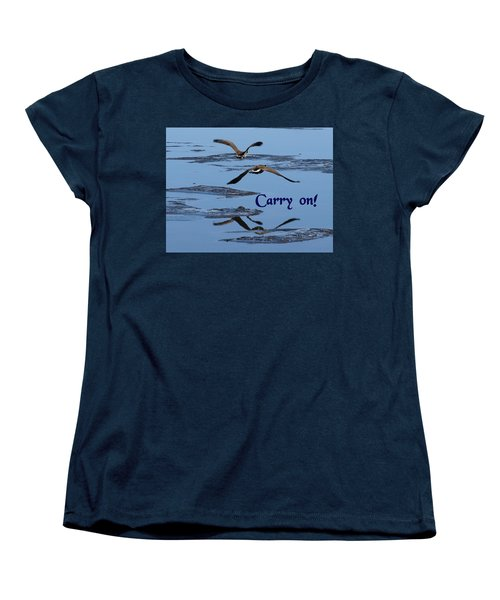 Over Icy Waters Carry On Women's T-Shirt (Standard Cut) by DeeLon Merritt