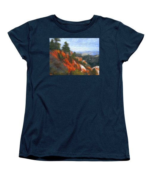 Overlook Women's T-Shirt (Standard Cut) by Gail Kirtz