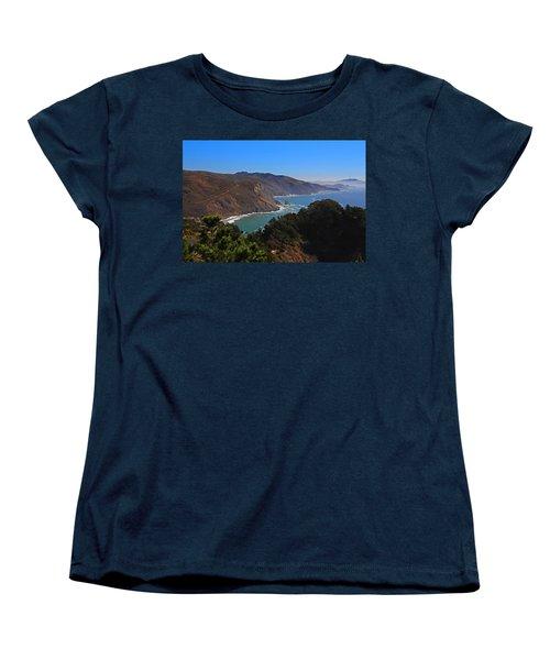 Overlooking Marin Headlands Women's T-Shirt (Standard Cut) by Michiale Schneider