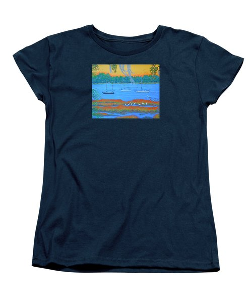 Women's T-Shirt (Standard Cut) featuring the painting Overnight In Beaufort by Dwain Ray