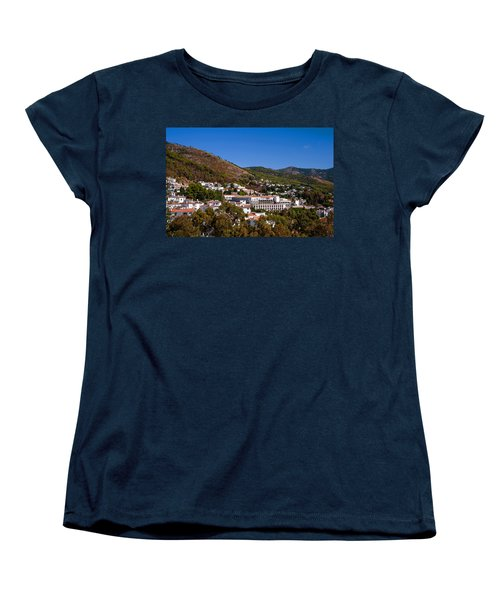 Women's T-Shirt (Standard Cut) featuring the photograph Overview Of Mijas Village by Jenny Rainbow