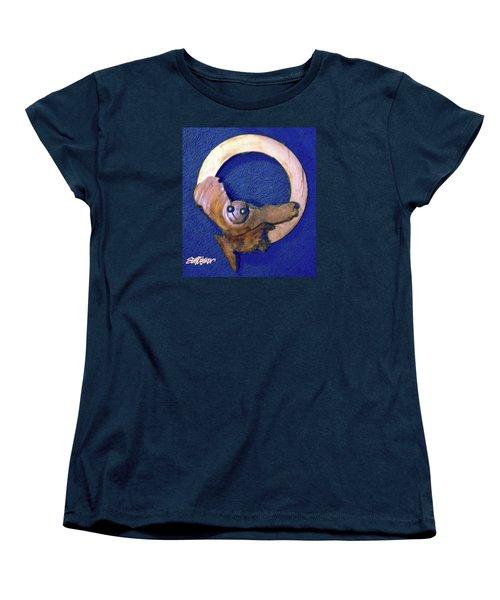 Women's T-Shirt (Standard Cut) featuring the sculpture Owl Moon by Seth Weaver
