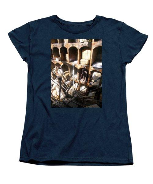 Women's T-Shirt (Standard Cut) featuring the photograph Owl Post Office Hogsmeade by Juergen Weiss