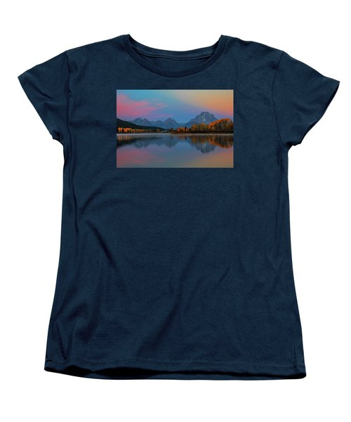 Oxbows Reflections Women's T-Shirt (Standard Cut) by Edgars Erglis