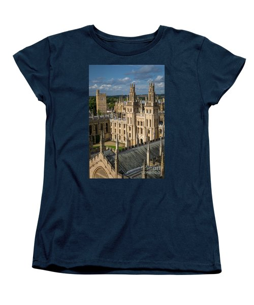 Women's T-Shirt (Standard Cut) featuring the photograph Oxford Spires by Brian Jannsen
