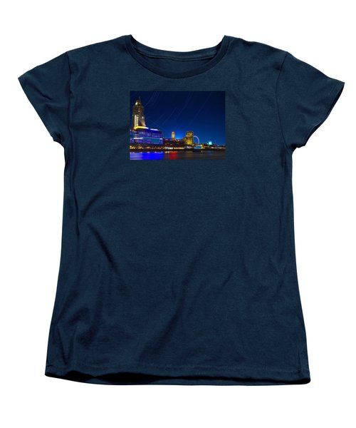 Oxo Tower Star Trails Women's T-Shirt (Standard Cut) by David French