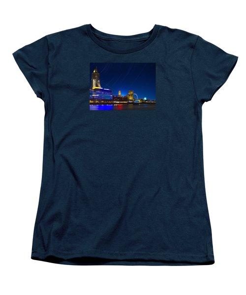 Oxo Tower Star Trails Women's T-Shirt (Standard Cut)