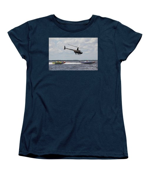 P1 Powerboats Women's T-Shirt (Standard Cut) by David Grant