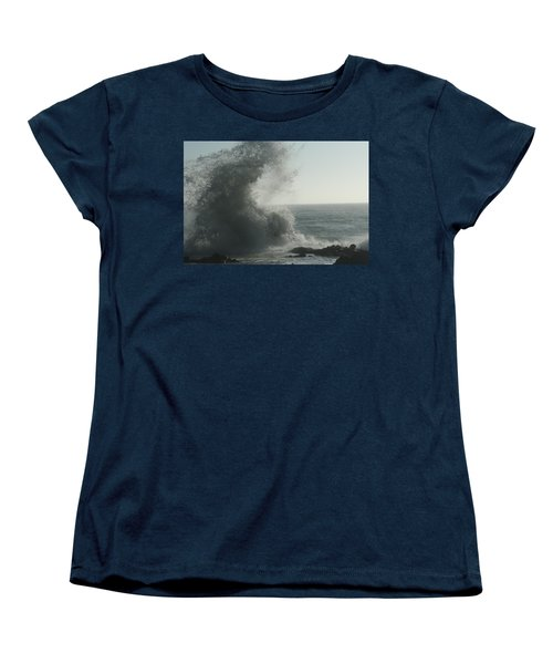 Pacific Crash Women's T-Shirt (Standard Cut) by Laddie Halupa