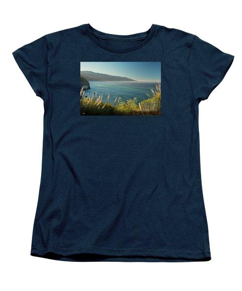 Pacific Ocean, Big Sur Women's T-Shirt (Standard Cut) by Dana Sohr