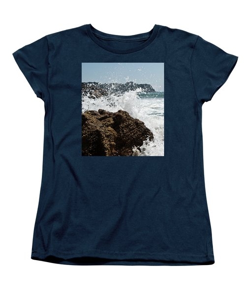 Women's T-Shirt (Standard Cut) featuring the photograph Pacific Splash by Yurix Sardinelly