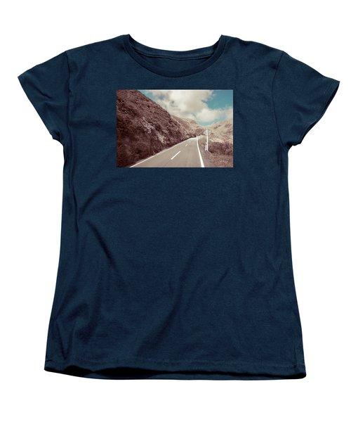 Women's T-Shirt (Standard Cut) featuring the photograph Paekakariki Hill Road by Joseph Westrupp