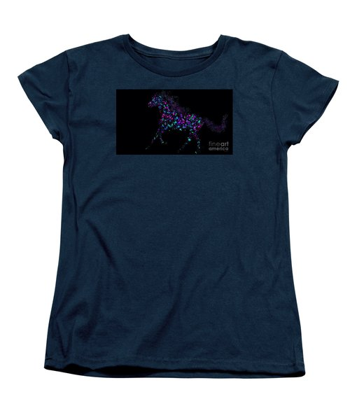 Women's T-Shirt (Standard Cut) featuring the painting Paint Splattered Pony by Nick Gustafson
