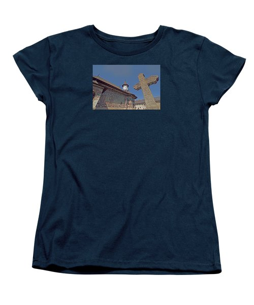 Painted Bucovina Monastery Women's T-Shirt (Standard Cut) by Dennis Cox WorldViews