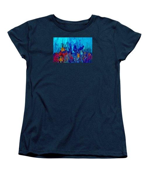 Painterly Garden Flowers Women's T-Shirt (Standard Cut) by Lisa Kaiser