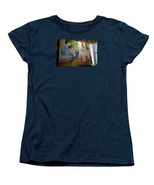 Women's T-Shirt (Standard Cut) featuring the painting Painting Dogs On Park Avenue by AnnaJo Vahle
