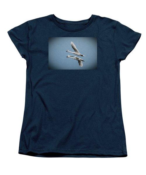 Pair Of Tundra Swan Women's T-Shirt (Standard Cut)