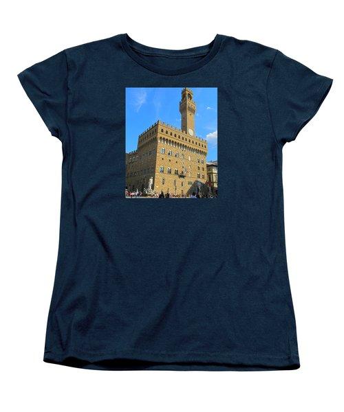 Palazzo Vecchio Florence Women's T-Shirt (Standard Cut) by Lisa Boyd