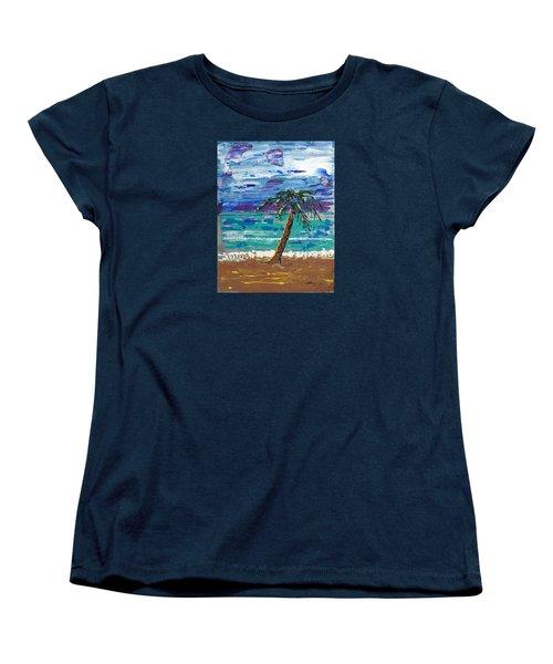 Women's T-Shirt (Standard Cut) featuring the painting Palm Beach by J R Seymour