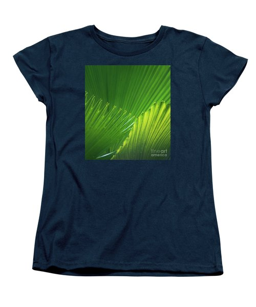 Palm Leaves Women's T-Shirt (Standard Cut) by Atiketta Sangasaeng
