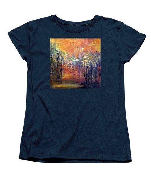 Palm Passage Women's T-Shirt (Standard Cut) by Roberta Rotunda
