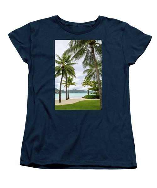 Palm Trees 1 Women's T-Shirt (Standard Cut) by Sharon Jones