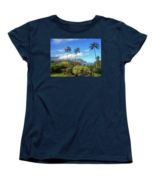 Palms At Hanalei Women's T-Shirt (Standard Cut) by James Eddy