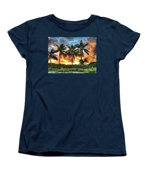 Palms On Fire Women's T-Shirt (Standard Cut) by Steven Lebron Langston
