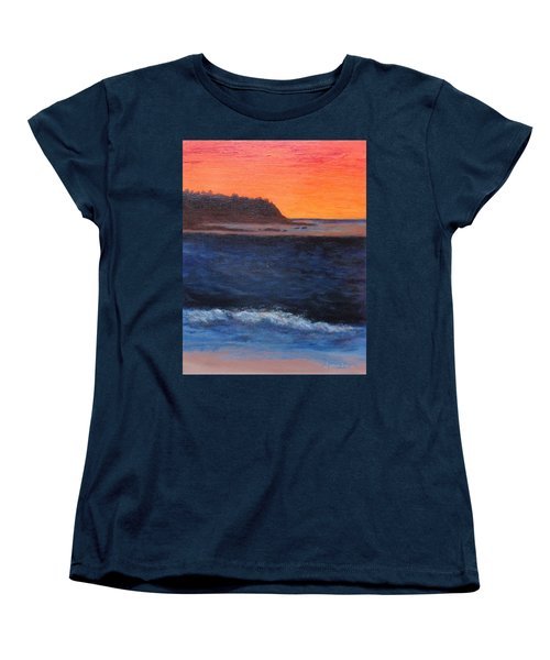 Women's T-Shirt (Standard Cut) featuring the painting Palos Verdes Sunset by Jamie Frier