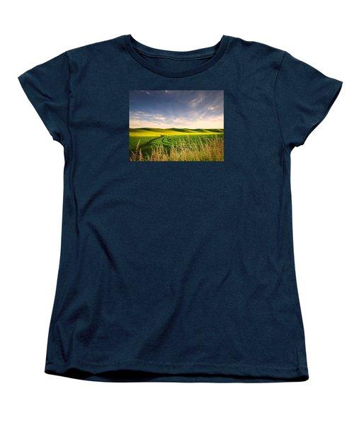 Women's T-Shirt (Standard Cut) featuring the photograph Palouse Bounty by Dan Mihai