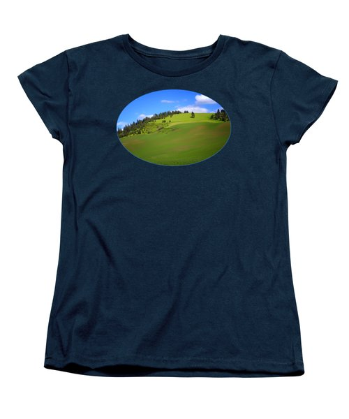 Palouse - Landscape - Transparent Women's T-Shirt (Standard Cut) by Nikolyn McDonald