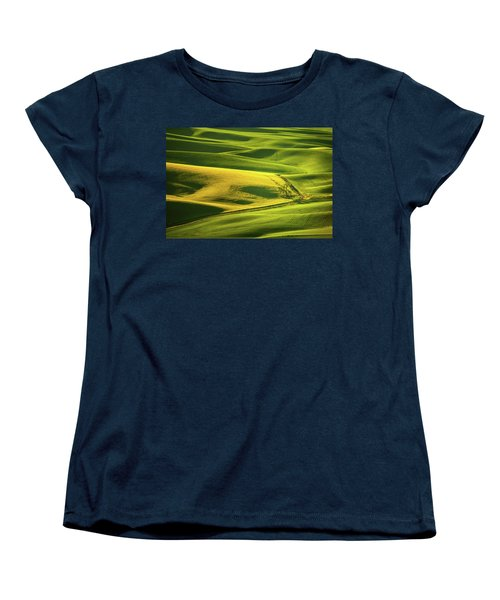 Women's T-Shirt (Standard Cut) featuring the photograph Palouse Shades Of Green by Dan Mihai