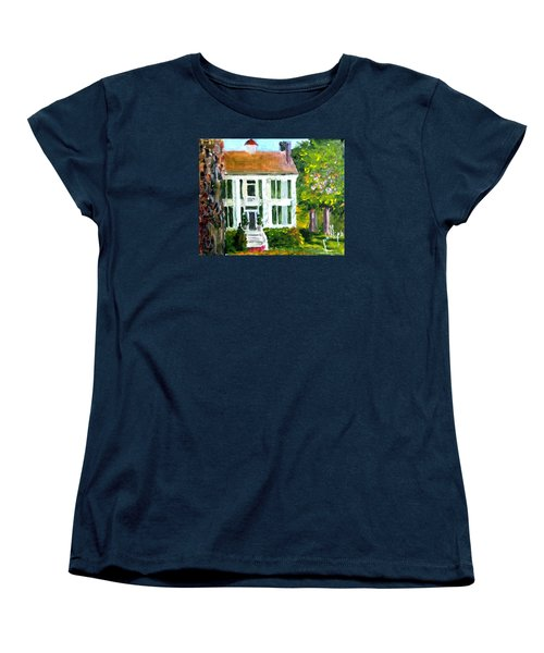 Women's T-Shirt (Standard Cut) featuring the painting Palto Alto Plantation Up Close by Jim Phillips